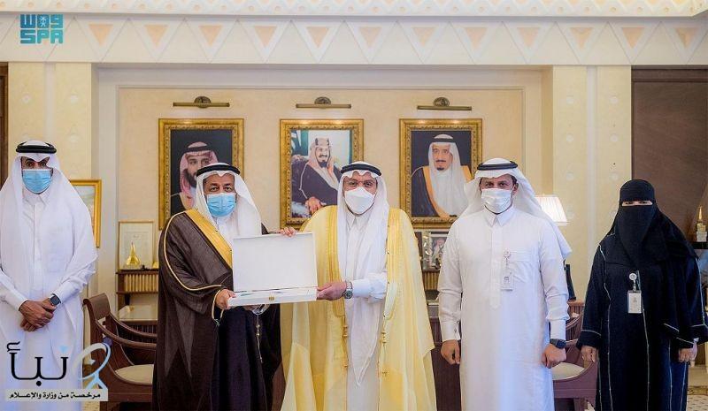 الأمير فيصل بن مشعل يتسلم التقرير السنوي لأعمال فرع وزارة الموارد البشرية والتنمية