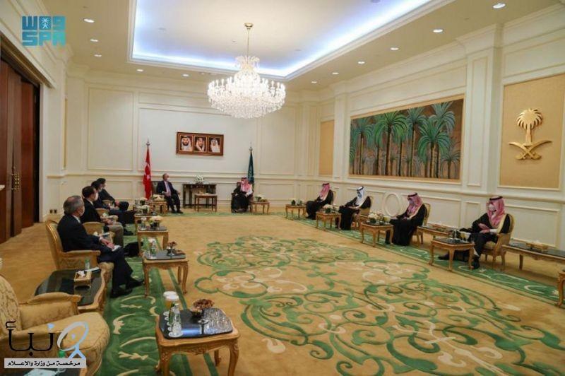 سمو الأمير فيصل بن فرحان يستقبل وزير الخارجية التركي