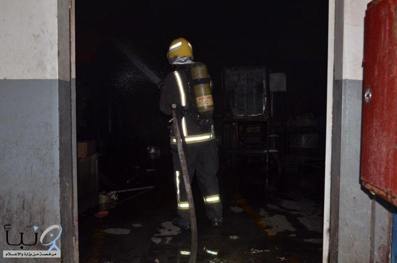 """""""مدني الرياض"""" يخمد حريق اندلع في مصنع بالصناعية الثانية"""