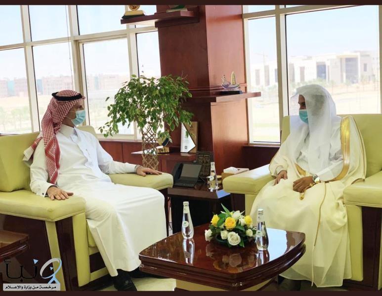 مدير عام فرع هيئة الأمر بالمعروف بالجوف يزور رئيس جامعة الجوف