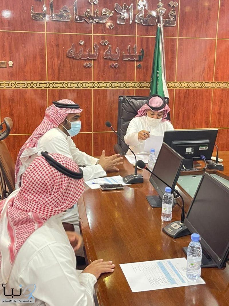 عقد المجلس البلدي لبلدية لينه جلستة الحادية والسبعين برئاسة رئيس المجلس مشاري الشريم وبحضور الأعضاء .
