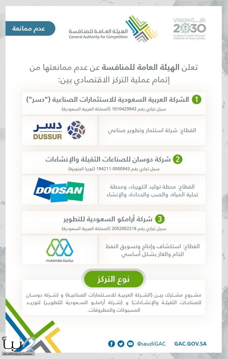 هيئة المنافسة السعودية توافق على  مشروعين مشتركين لتصنيع هياكل الطيران المعدنية ومنتجات المسبوكات المعدنية  في المملكة