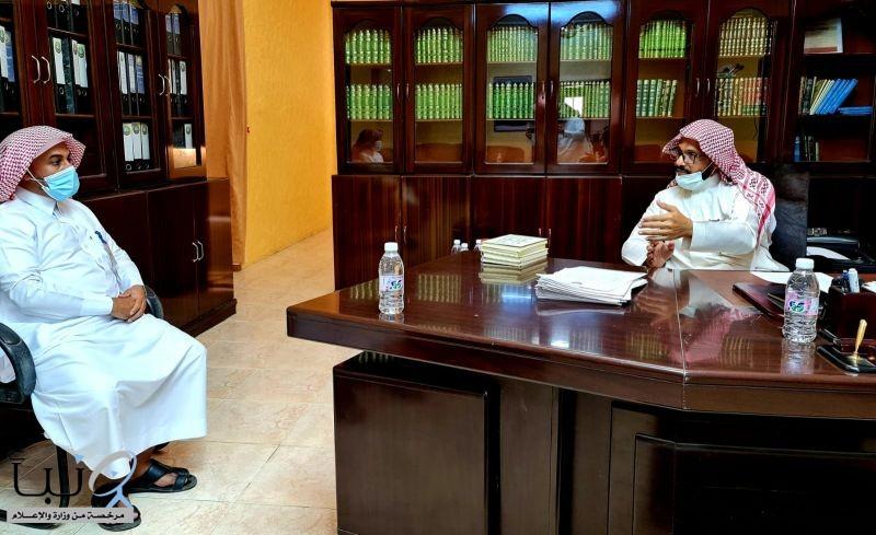 مدير عام فرع هيئة الأمر بالمعروف بمنطقة الباحة يتفقد هيئة محافظة قلوة