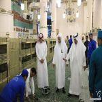 فرش المسجد النبوي بالسجاد الجديد