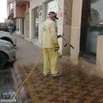 #بلدية_الهياثم تقوم بالرش والتعقيم في الشوارع الرئيسية