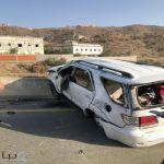 الهلال الأحمر بمنطقة الباحة يباشر حادث