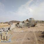 #الطائف : إزالة تعديات بمساحة  100 ألف م2