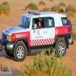 الهلال الأحمر يستعد للحالة المطرية ب ٨ فرق اضافيه بمنطقة الرياض