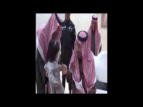 تصرف انساني من الملك سلمان مع طفلة القريات